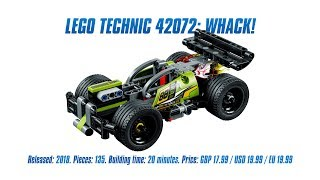 LEGO Technic 42072: WHACK! In-depth Review & Speed Build [4K]