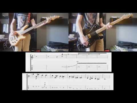 Muse - Psycho Guitar and Bass cover with tabs