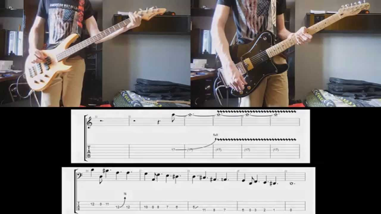 Muse psycho guitar and bass cover with tabs youtube for Vi soggiornavano le mitiche muse