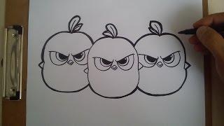 Como dibujar a the blues de angry birds movie / HOW TO DRAW THE BLUES ANGRY BIRDS MOVIE