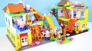 Peppa Pig Building Lego House Toys For Kids - Lego House Creations Toys #9
