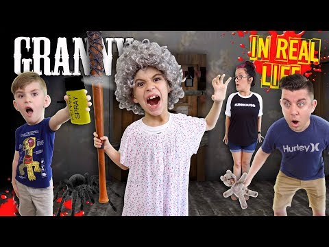 Granny Horror Game In Real Life! PEPPER SPRAY Update (FUNhouse Family)