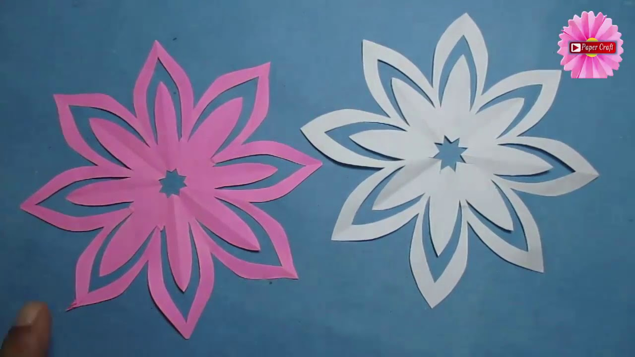 Flower paper cutting designs image collections flower decoration ideas awesome simple paper cutting flowers collection top wedding gowns how to make simple easy paper cutting mightylinksfo