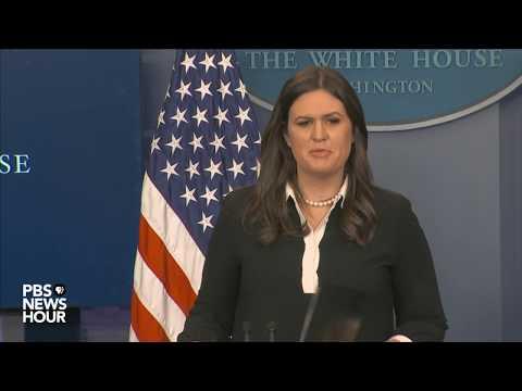 Principal Deputy Press Sec. Sarah Huckabee Sanders holds White House news briefing