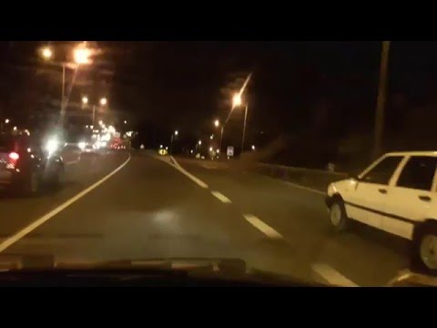 Driving in Livonia Michigan at Night