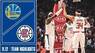 Clippers vs. Warriors Game Highlights | 11/12