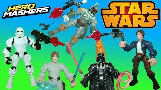 Star Wars Hero Mashers Super Pack Part 2 Han Solo Boba Fett and Stormtrooper join the fight!