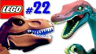 ЛЕГО мультик ИГРА про динозавров Парк юрского периода [22] Тираннозавр против спинозавра