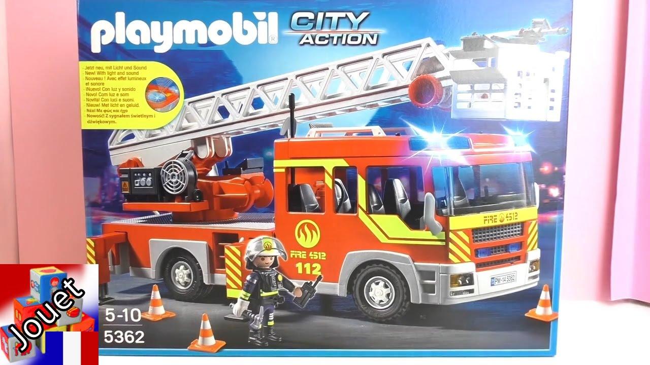 Les pompiers playmobils 2015 sortie de bo te du camion de - Playmobil de pompier ...