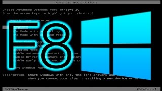 How to Enable F8 Boot Menu for Windows 10/8.1/8
