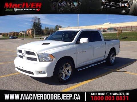 Dodge Crew Cab >> 2011 White Ram 1500 Sport Crew Cab Newmarket Ontario ...