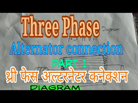 3 phase generator alternator wiring diagram telecaster humbucker how to three connection work in hindi थ र