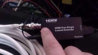 Как работает комплект передачи HDMI сигнала по коаксиальному (тв) кабелю