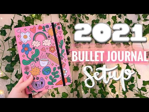 My 2021 Bullet Journal Setup II starting a new Bujo PLAN WITH ME