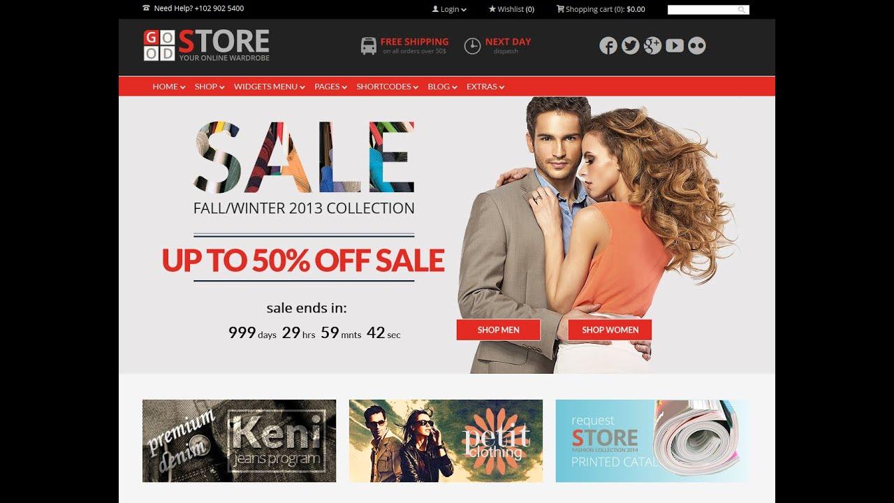 ecommerce wp themes