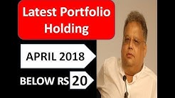 #1 Rakesh Jhunjhunwala - Below Rs 20 Latest Multibagger Stocks Portfolio For April 2018.