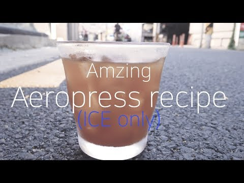Coffee Recipe | How to make Ice Aeropress with natural coffee (Ethiopia)