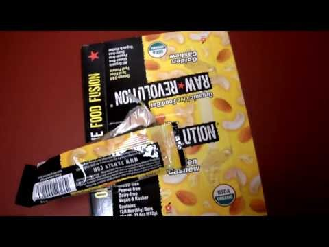 Review Raw Revolution Organic Live Food Bar Golden Cashew Gluten Kosher Vegan Dairy Natural Free
