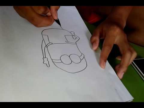 Sketsa Minion By Aditya Youtube