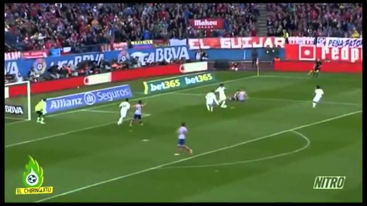 Robo escandaloso al Atletico de Madrid en Liga 2014 (4 penaltis) del Real Madrid.