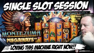 Online Slots - Montezuma Megaways Big wins Single Slot Session