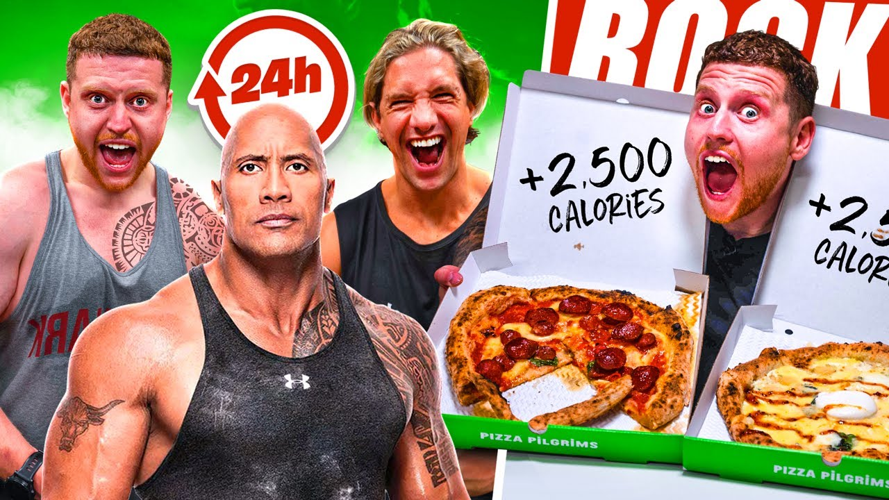Training & Eating Like THE ROCK For 24 Hours
