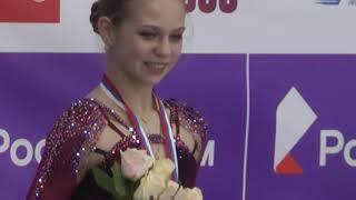 Церемония награждения Александра Трусова 1 е место тренер Евгений Плющенко Кубок России 11 10 20