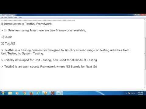 Selenium Quick Tutorial 7: TestNG Framework in Selenium