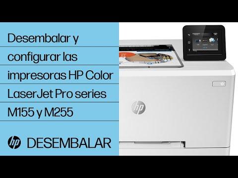 Desembalar y configurar las impresoras HP Color LaserJet Pro series M155 y M255 | HP LaserJet | HP