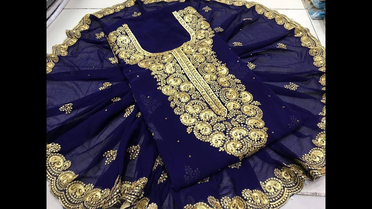 c83de8fbed0 Kota Cotton Mirror Work With Embroidered Dress Material || Ladies Kota  Dress Material Manufacturer