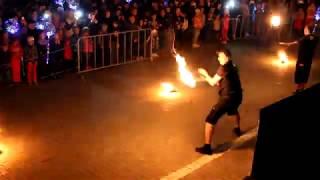 Петербуржцы показали огненное шоу
