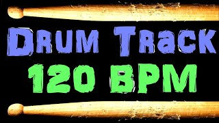 Bass Guitar Backing Drum Track Rock Beat 120 BPM Loop #54 Free MP3