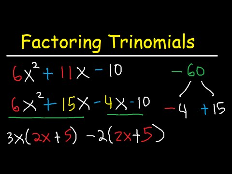 factoring trinomials with leading coefficient not 1 ac method by grouping algebra 3. Black Bedroom Furniture Sets. Home Design Ideas