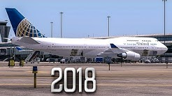 New Flight Simulator 2018 | Last Ever Boeing 747 Flight - P3D 4.1 [Ultra Realism]