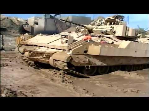 Iraq War - Soldiers Patrol Ramadi With Tanks