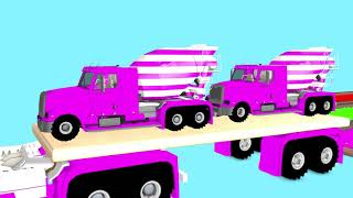 Learn Colors water pool and  Street Vehicles Toys Parking with 3D