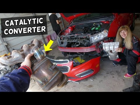 CATALYTIC CONVERTER REPLACEMENT REMOVAL CHEVROLET CRUZE CHEVY SONIC