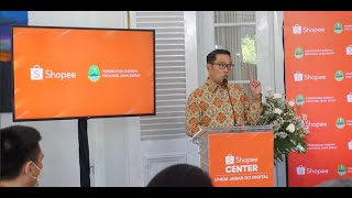 Peresmian Shopee Center bersama Ridwan Kamil