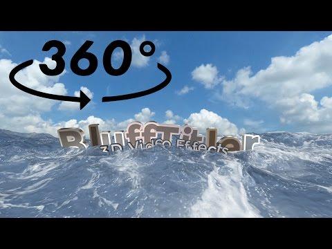 BluffTitler VR 360° 4K export demo