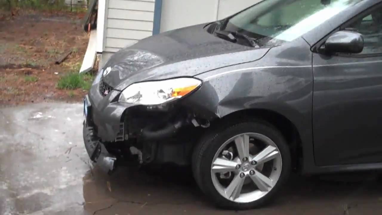Deer Damage To New Car Toyota Matrix Youtube