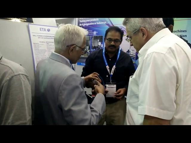 Mr.Nair & Mr. Santhosh, ETA Technology @ IMTEX 2017