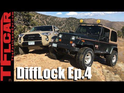 2016 Toyota 4Runner TRD Pro vs 1995 Jeep Wrangler vs Gold Mine Hill: DiffLock Ep.4
