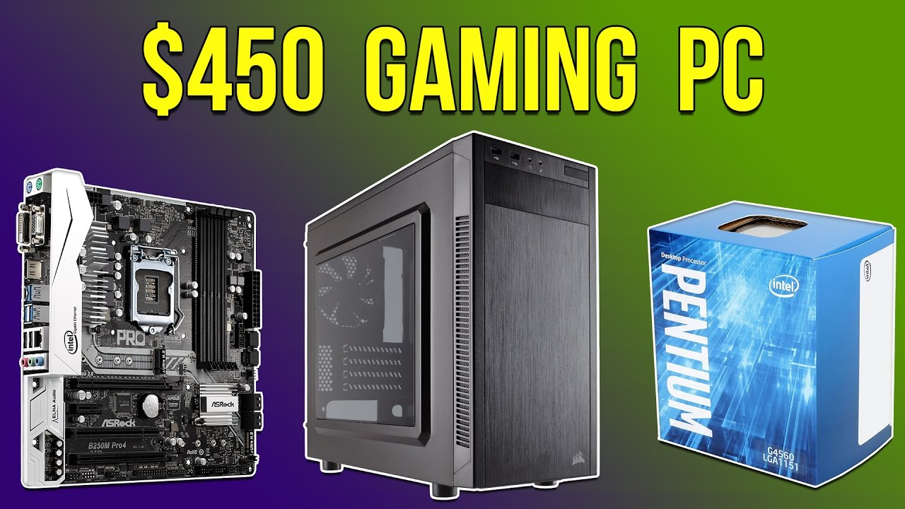CHEAP PC BUILD OF THE MONTH!! $450 Gaming PC - February 2017 - YouTube