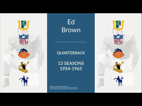 Ed Brown: Football Quarterback and Punter
