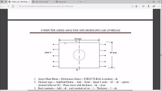 ANALYSIS OF STRESS GENERATED IN RECTANGULAR PLATE WITH HOLE
