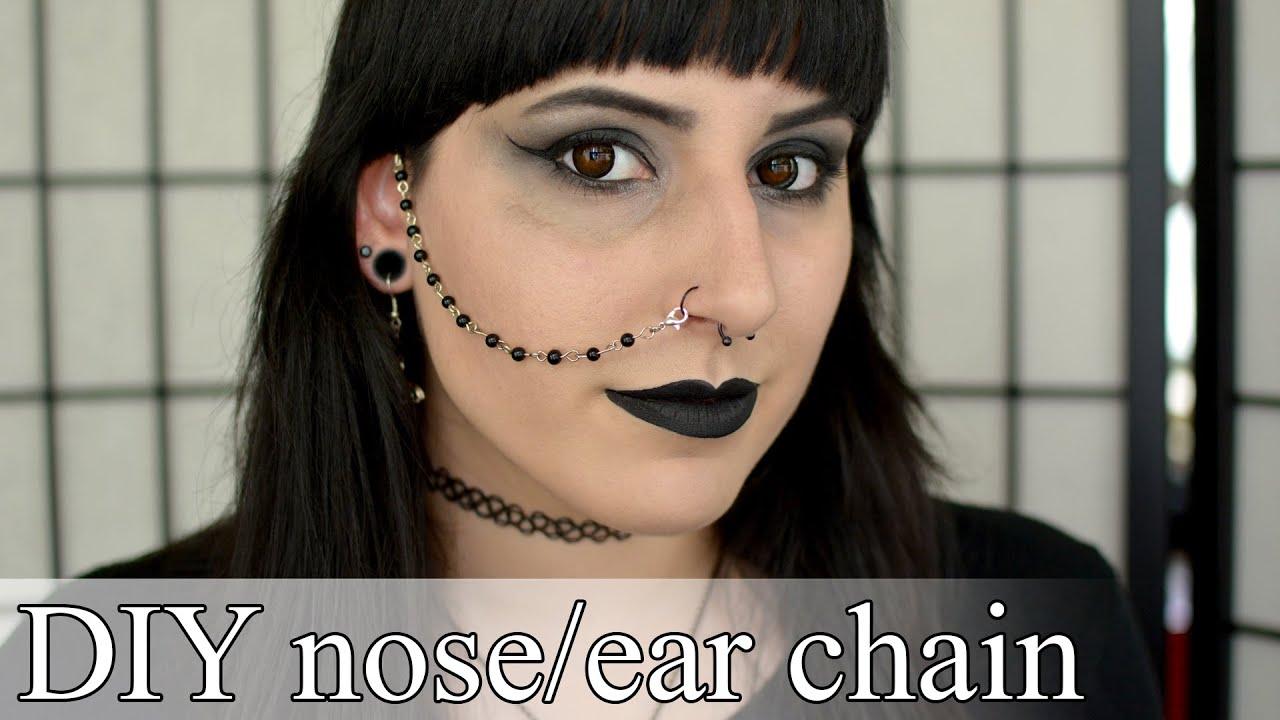 Best DIY nose to ear chain - Goth DIY - YouTube MQ25