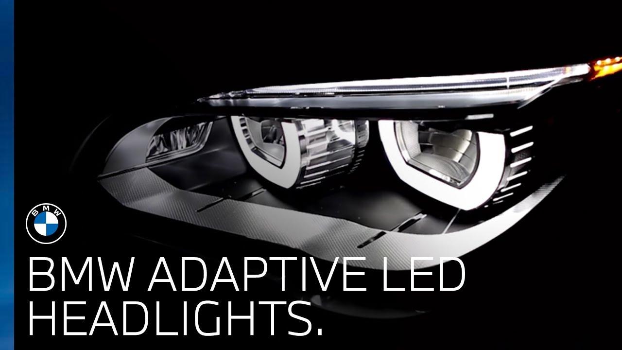 Bmw Uk Bmw Adaptive Led Headlights Youtube