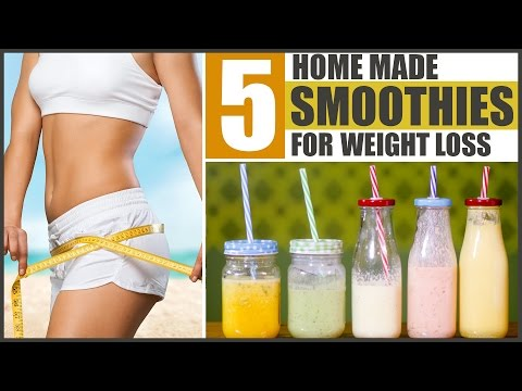 Top 5 Homemade SMOOTHIES FOR WEIGHT LOSS With Spinach, Peanut Butter, Vegetables & Fruits