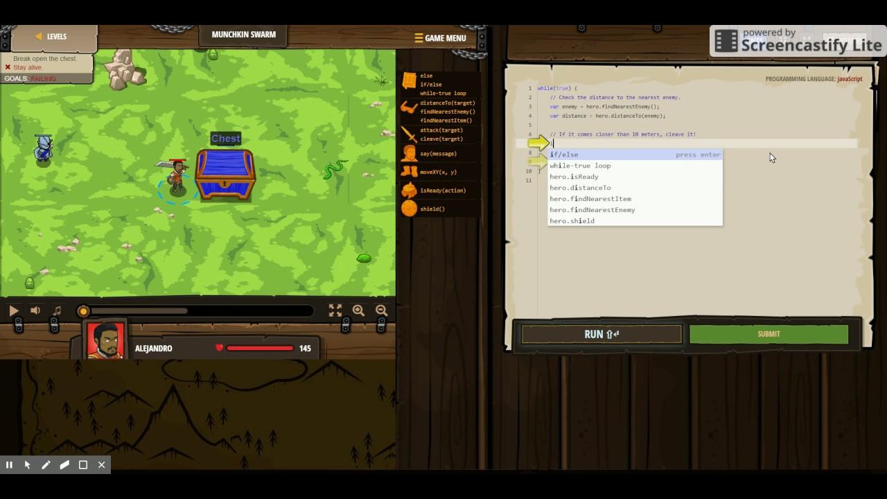 Code Combat Munchkin Swarm - YouTube