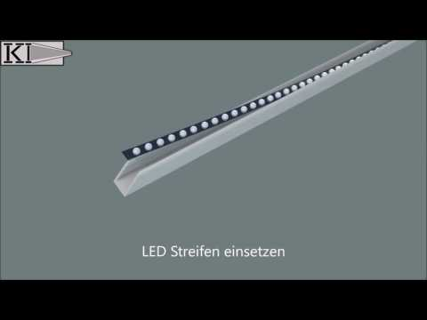 LED Glasplatten Profil